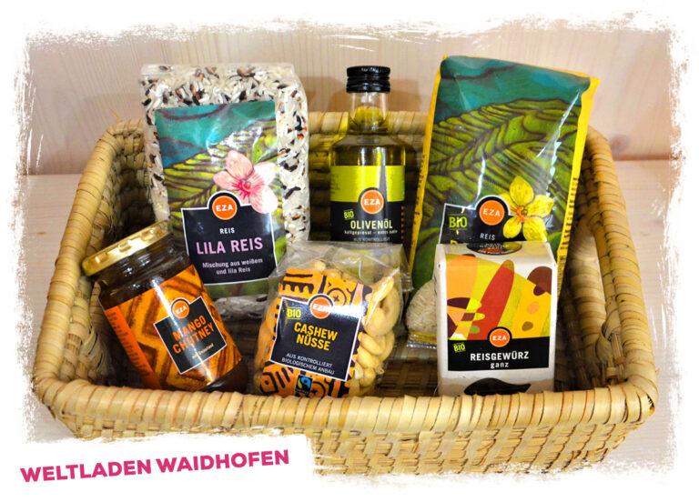 Weihnachtspakete Weltladen Waidhofen